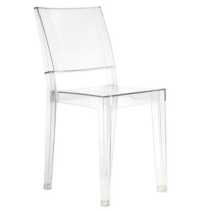 "EdgeMod Burton Collection 34"" Square Dining Chair with Tapered Legs, Stackable and Injection Molded Polycarbonate Material"