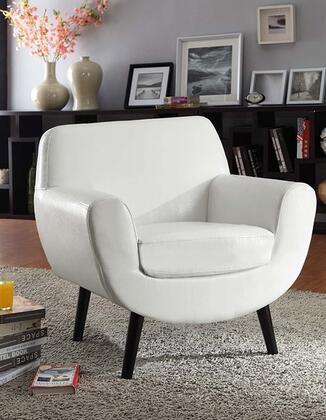 Armen Living LC2003FAWH Armchair Fabric Wood Frame Accent Chair