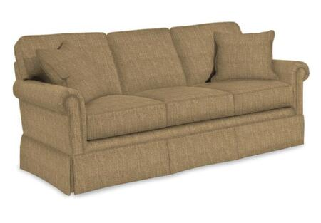 "Broyhill Audrey 3762-3/COLOR 84"" Wide Sofa with Two Pillows, Skirt Bottom and DuraCoil Seat Cushions in"