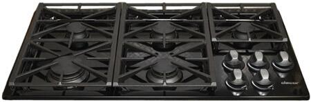 Dacor RGC365BLPH Renaissance Series Liquid Propane Sealed Burner Style Cooktop, in Black