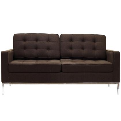 Modway EEI186CHC Loft Series Fabric Stationary with Metal Frame Loveseat