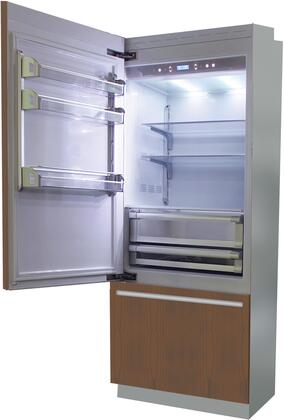 "Fhiaba B 30"" Brilliance Series Built In Bottom Freezer Refrigerator with TriMode, TotalNoFrost, 3 Evenlift Shelves, Door Storage, LED Lighting and Left Hinge:"