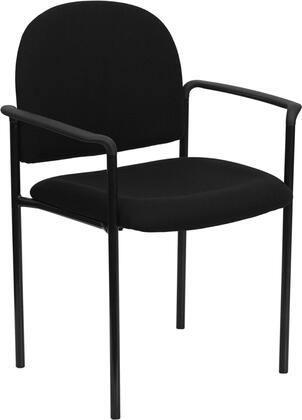 "Flash Furniture BT-516-1-XX-GG 19"" Comfortable Fabric Stackable Steel Side Chair with Arms, 2.5"" Thick Padded Seat, Integrated Curved Nylon Arms, and Two Steel Cross Brace Support Bars Underneath Seat"