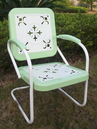 4D Concepts 71340 Retro Series  Metal Frame  Patio Arm Chair