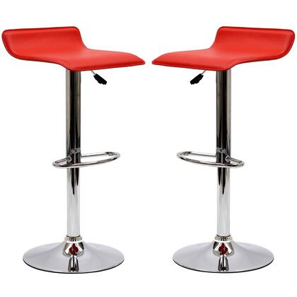 Modway EEI937RED Gloria Series Residential Faux Leather Upholstered Bar Stool
