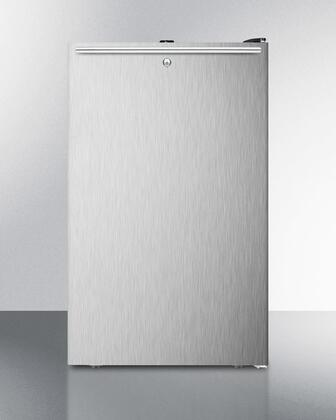 "AccuCold FS408BL7 20"" Counter Height All-Freezer, With 2.8 cu.ft. Capacity, ADA Compliant, -20 C capable with Factory Installed Lock, Approved for Medical use, with Stainless steel Door and"