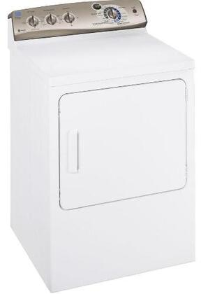 GE PTDS650EMWT Profile Series  Electric Dryer, in White On Fake Steel