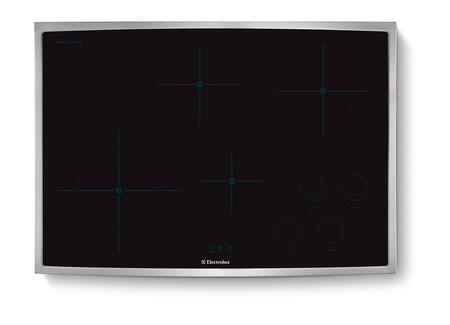 "Electrolux EW30IC60LS 30""  Yes Cooktop, in Black with Stainless Steel Frame"