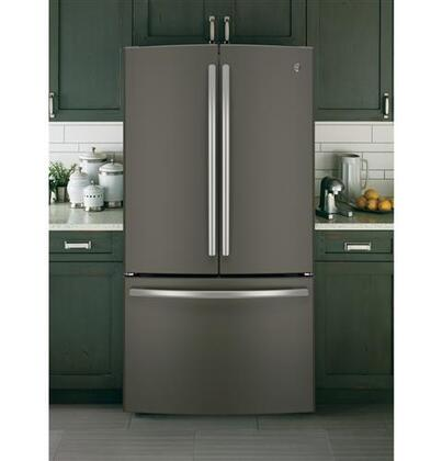Ge Gne29gmhes 36 Inch Slate Series French Door Refrigerator With