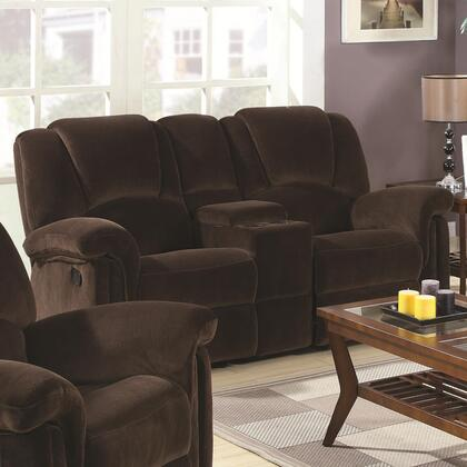Coaster 602992 Ajay Series Fabric Reclining with Wood Frame Loveseat