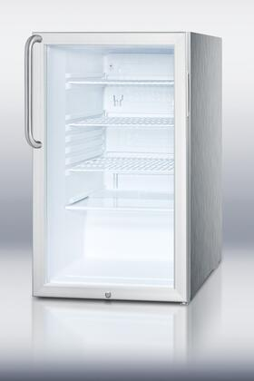 Summit SCR450LCSS  Counter Depth All Refrigerator with 4.1 cu. ft. Capacity in White