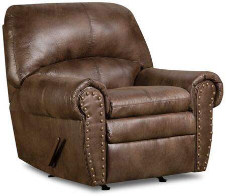 Simmons Upholstery 751019PADREESPRESSO Padre Series Contemporary Fabric Wood Frame Rocking Recliners