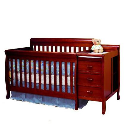 AFG 516 Athena Kimberly 3-in-1 Convertible Crib and Changer Combo in