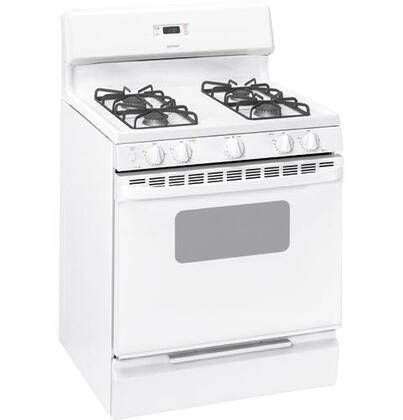 Hotpoint RGB533DEPWW  Natural Gas Freestanding Range with  in White