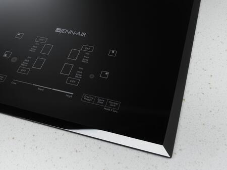 "Jenn-Air JEC4430BT 30"" Electric Cooktop with 4 Elements, Elegant Beveled Edge, Black Floating Glass Design, Hot Surface Indicators, in"