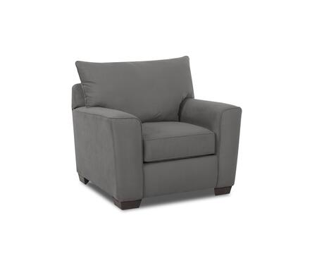 """Klaussner Heather Collection E56044-C- 41"""" Chair with Track Arms, Tapered Block Feet and Fabric Upholstery in"""