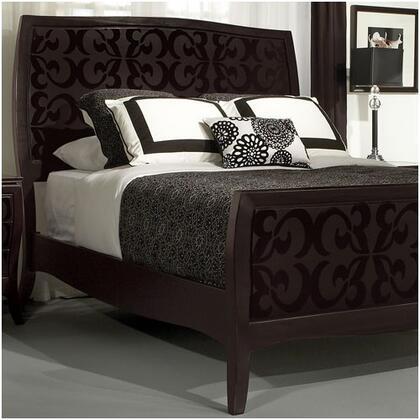 Zocalo BELNZC263 Belle Noir Series  California King Size Panel Bed