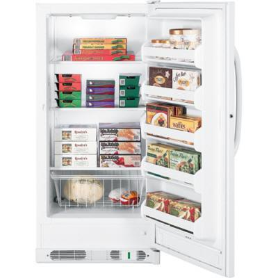 GE FUM14SVRWW Freestanding Upright Freezer with 14.1 cu. ft. Capacity  Right Hinge Manual Defrost |Appliances Connection