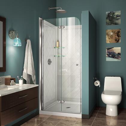 DreamLine Aqua Fold Shower Door RS14 30 01 B Qwall