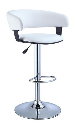 Powell 915 Faux Leather/Chrome Barrel Seat Adjustable Height 360 Swivel Barstool