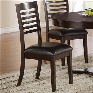Standard Furniture 11464 Tyler Series Transitional Faux Leather Wood Frame Dining Room Chair