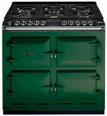 AGA A64NGBRG Six-Four Series Dual Fuel Freestanding Range with Sealed Burner Cooktop, 4.5 cu. ft. Primary Oven Capacity, in Green
