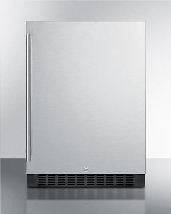 """Summit FF64BCSS 24"""" Compact Refrigerator with 4.6 cu. ft. Capacity in Stainless Steel"""