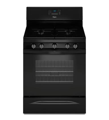 "Whirlpool WFG530S0 30"" Freestanding Gas Range with 5.0 cu. ft. Capacity, 5 Sealed Burners, SpeedHeat Burner, Convection Cooking, AccuSimmer Burner, Hidden Bake Element, and Self-Clean in"