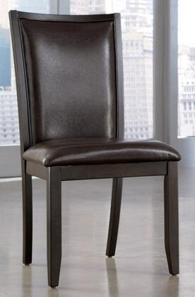 "Ashley Trishelle D5500 21"" Wide Dining Upholstered Side Chair with Saber Legs, Okoume Veneer Drawer Fronts, Dark Espresso Frame, Ash Veneer Tops and Asian Hardwoods in"