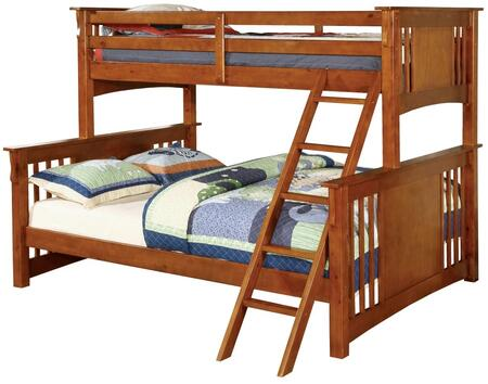 Furniture of America CMBK604OAKBED Spring Creek Series  Bed
