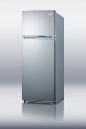 Summit FF1062SLVIM Freestanding Top Freezer Refrigerator with 9.41 cu. ft. Total Capacity