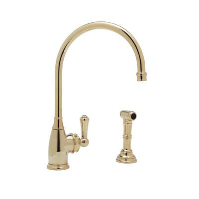 Rohl U.4702-2 Perrin and Rowe Collection Single Lever Single Hole Kitchen Mixer With Sidespray, California AB 1953 and Vermont S152 Compliant: