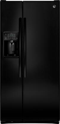 """GE GSS23Gx 33"""" Side by Side Refrigerator with 23.2 cu. ft. Capacity, Multi-Level Drawers, Arctica Icemaker, Spillproof Glass Shelves and Gallon Door Bins, in"""