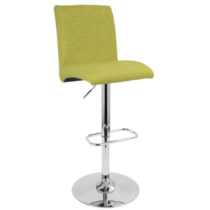 "LumiSource Tintori BS-JY-TNT 40"" - 45"" Barstool with 360-Degree Swivel, Fabric Upholstery and Chrome Base in"