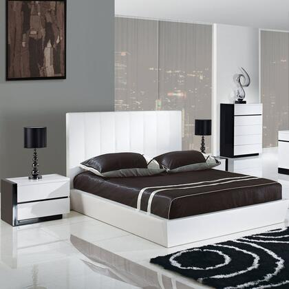 Global Furniture USA TRINITYQB Trinity Series  Queen Size Platform Bed