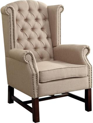 Acme Furniture 59310 Manly Series Armchair Fabric Wood Frame Accent Chair