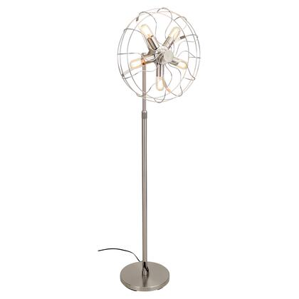 """LumiSource Ozzy LS-L-OSCFLR 55"""" - 62"""" Floor Lamp with Adjustable Height, Metal Cage-Like Enclosure and 5 Lighting Fixtures in"""
