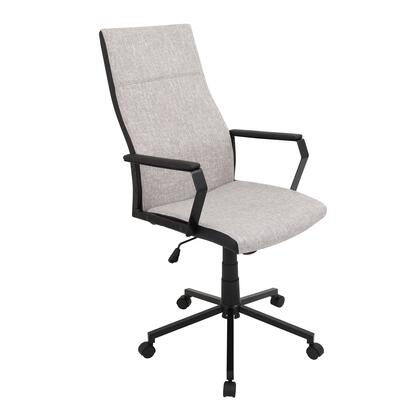 "LumiSource Congress OFC-AC-CN 42"" - 46"" Office Chair with 360-Degree Swivel, Fabric Upholstery and Adjustable Height in"