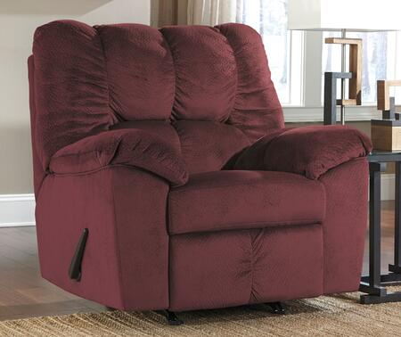 Milo Italia Leilani MI-9800ATMP Rocker Recliner with Plush Padded Arms, Divided Back Cushion and Metal Drop-In Unitized Seat Box Construction in