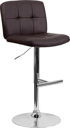 Flash Furniture DS829BRNGG Residential Vinyl Upholstered Bar Stool
