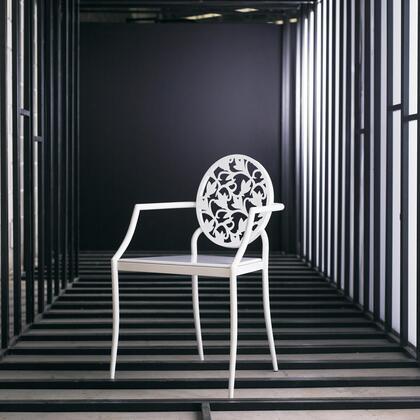 Modloft CDC197PBL6 Vale Series Modern Not Upholstered Metal Frame Dining Room Chair