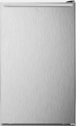 """AccuCold CM421BLXSSHH0 20"""" CM421BL Series Medical Compact Refrigerator with 4.1 Cu. ft. Capacity, Manual Defrost, Adjustable Thermostat and Adjustable Glass Shelves: Stainless Steel"""
