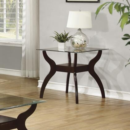 Coaster 704627 Ocassionals Table Series Casual Wood Square None Drawers End Table