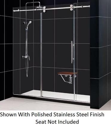 DreamLine SHDR-60727912 Enigma Sliding Shower Door With Fully Frameless Heavy Glass Sliding, Reversible For Right Or Left Door Opening & In