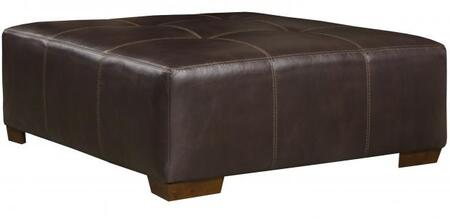 "Jackson Furniture Hudson Collection 4396-10- 43"" Ottoman with Tufted Top, Luggage Stitching and Faux Leather Upholstery in"