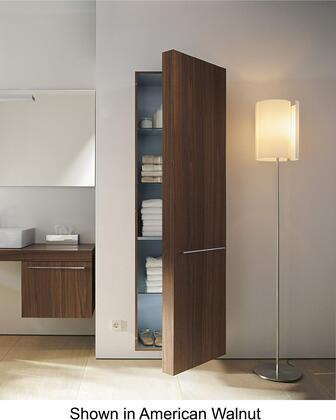 """Duravit Fogo FO9547R 69"""" Tall Cabinet with 3 Glass Shelves, 1 Wooden Shelf, and Shelves Behind the Door: Right Hinge in"""