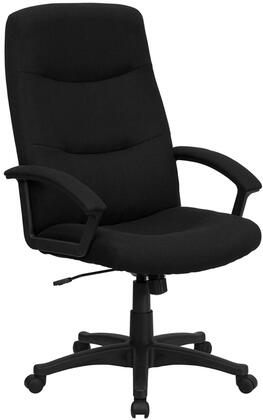 """Flash Furniture BT-134A-XX-GG 18"""" High Back Fabric Executive Swivel Office Chair with Pneumatic Seat Height Adjustment, Locking Tilt Control, Tilt Tension Control, and Dual Wheel Casters"""