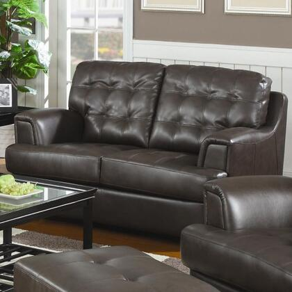 Coaster 502682 Bonded Leather Stationary with Wood Frame Loveseat