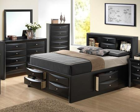Glory Furniture G1500GQSB3DM G1500G Queen Bedroom Sets