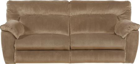 "Catnapper Nichols Collection 1671- 90"" Lay Flat Reclining Sofa with Fabric Upholstery, Pillow Top Arms and Split Back in"